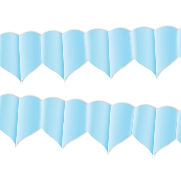 Girlande, hellblaue Herzen, 1 Stück, 4 m