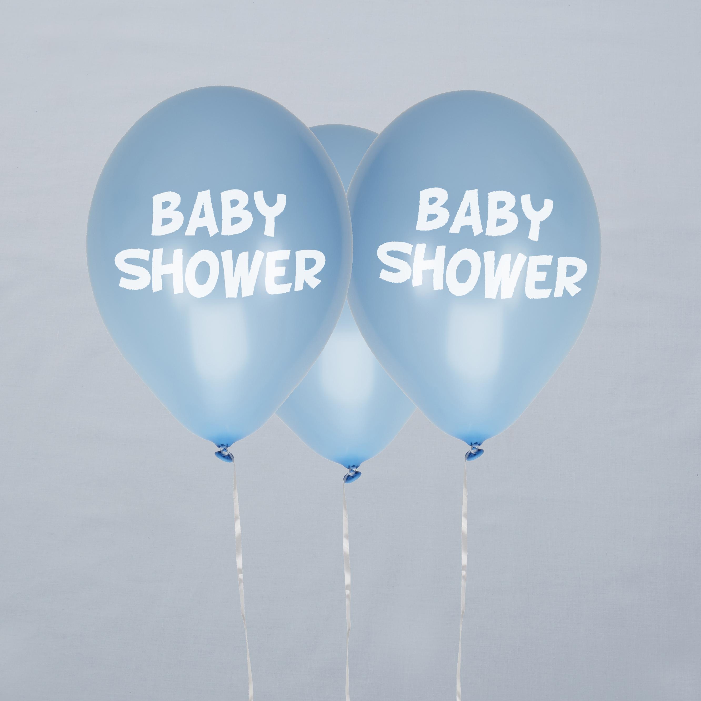 Baby Shower, Latexballons in blau, 8er Pack