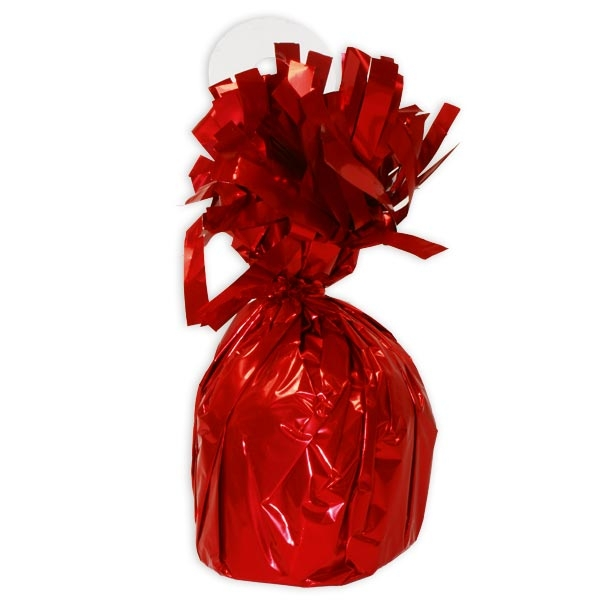 Ballongewicht rot, 13cm, Luftballon-Gewicht als Ballonbeschwerer, 1 Stk