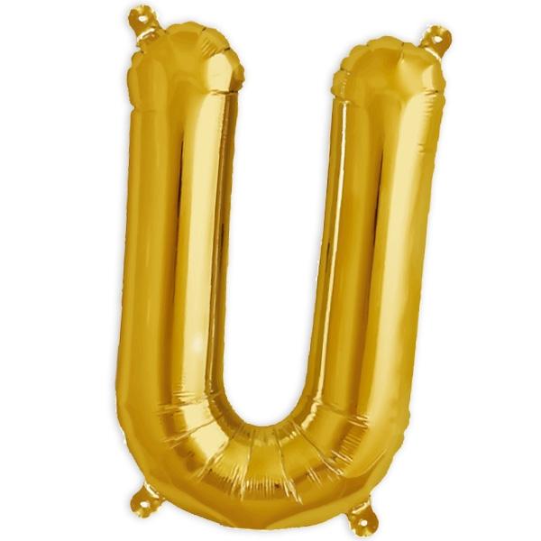 Folienballon Buchstabe U für die Personalisierung in der Deko, 41cm