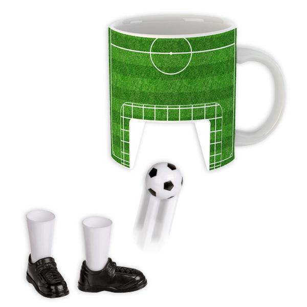 """Kaffeetasse """"Fußball"""" mit Ball und Fußballschuhen"""