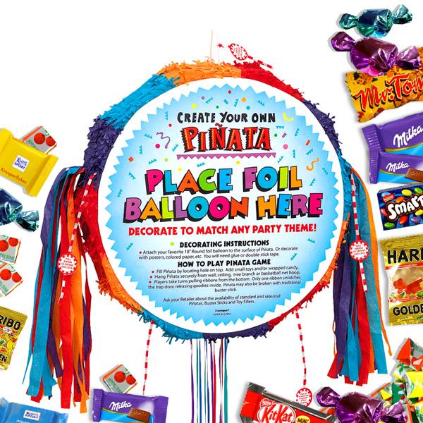 Zugpinata-Set zum selber Dekorieren für kreative Kinder +Süßigkeiten