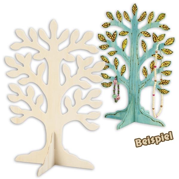 Baum aus Holz zum anmalen und verzieren, 30cm x 21,5cm