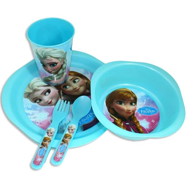 Disneys Frozen Geschirrset mit Anna und Elsa, 5 Teile