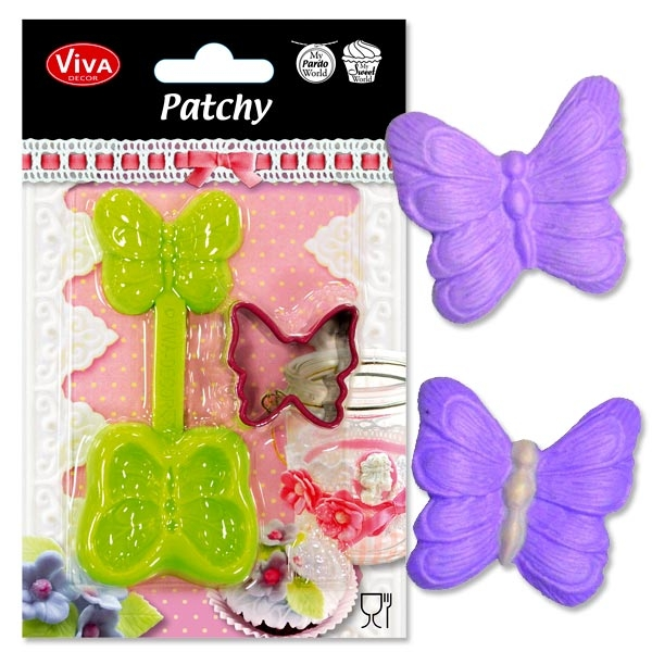 Patchy Schmetterling,3D Abdruck-Form, aufklappbare Silikonform