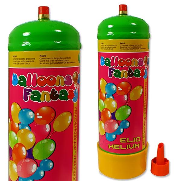 Ballongas Flasche inkl. Ventil, für bis zu 12 Latexballons -24cm-