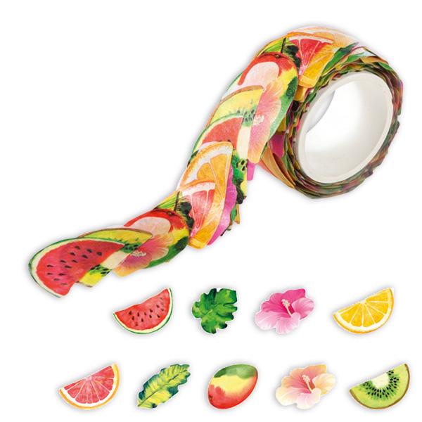 """Washi-Sticker """"Tropical"""", 200 Stück auf Rolle"""