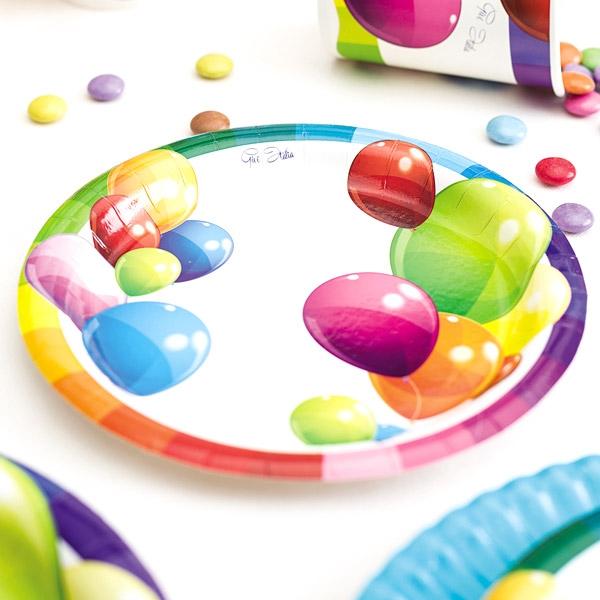 "Kleine Partyteller ""Ballons"", 8 Stück, Ø 18 cm"