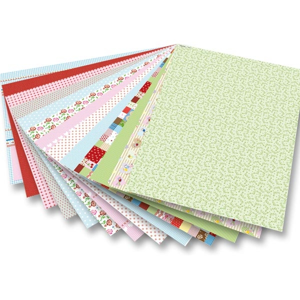 Motivblock MITTSOMMERLAND 24x34cm, 26 Blatt sortiert, 26 Bastelbögen zum Aufkleben