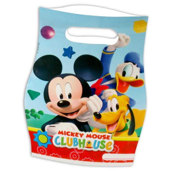 Mickey Maus Tütchen, 6 Stk, 16,5cm x 23cm