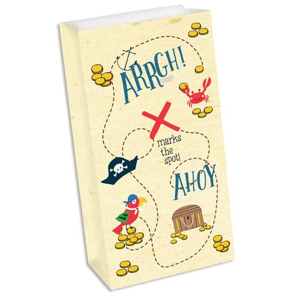 Ahoi Piraten, Papier Geschenktaschen, 8er Pck, 12,7cm×24,1cm