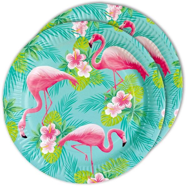 "Partyteller ""Flamingo"", 8 Stk. 23cm"
