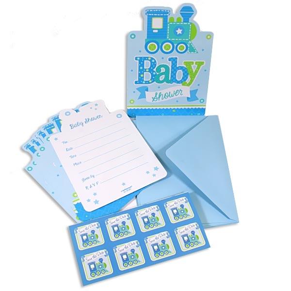 Welcome Baby Boy Einladungskarten, 8er Pack, plus Umschläge u. Sticker