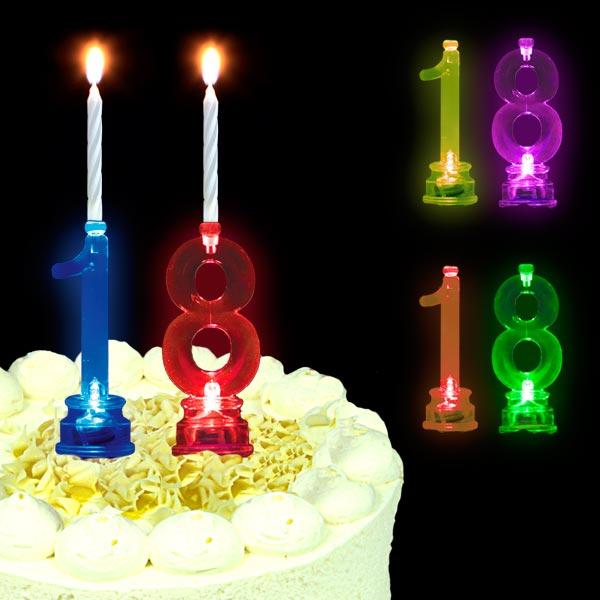 Blinkende Geburtstagszahl 18