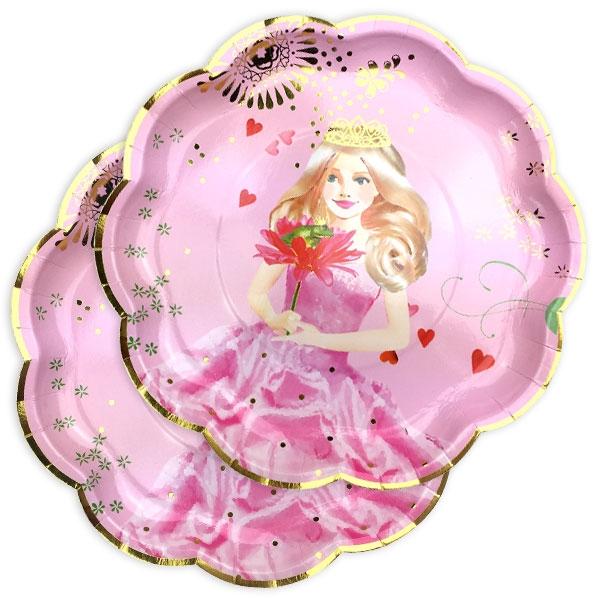 Prinzessin Partyteller für den Prinzessin Geburtstag, 8 Stück, Pappe