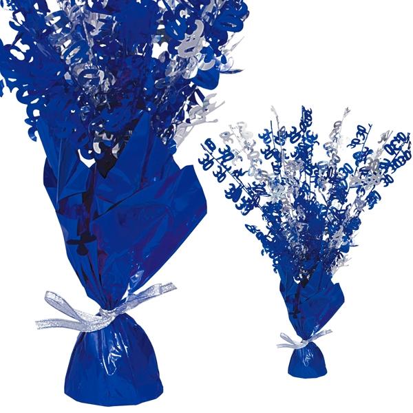 """Ballongewicht  Zahl """"30""""-Tischdeko, metallic blau"""