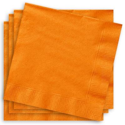 Partyservietten in Orange,33cm, 2-lagige Papierservietten, 20 Stück