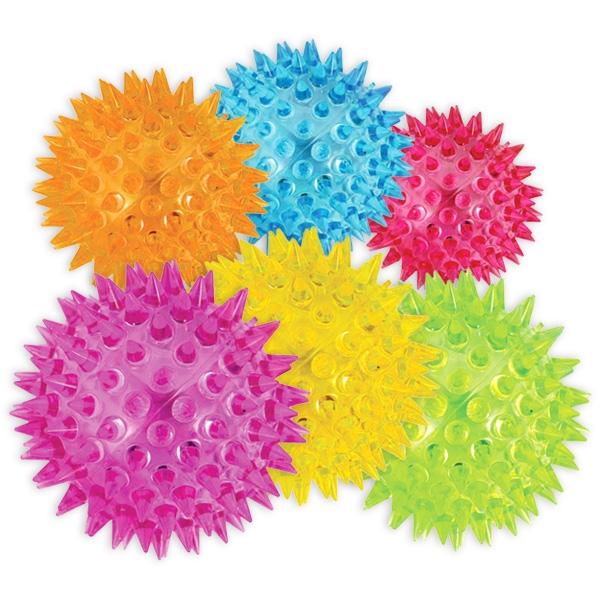 LED Stachelball, Igelball als Massageball oder Spielball, 1 Stück