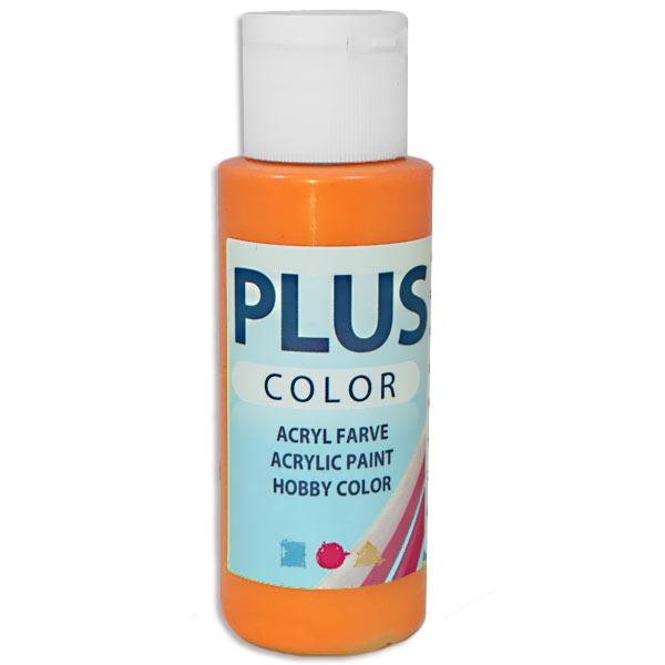 Bastelfarbe Plus Color Kürbis-Orange, 60 ml, sehr gute Deckkraft