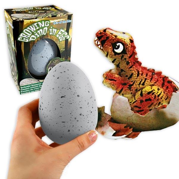 Dino Schlüpf-Ei, cooles Mitgebsel für die Dinoparty, 1 Stück, 10cm