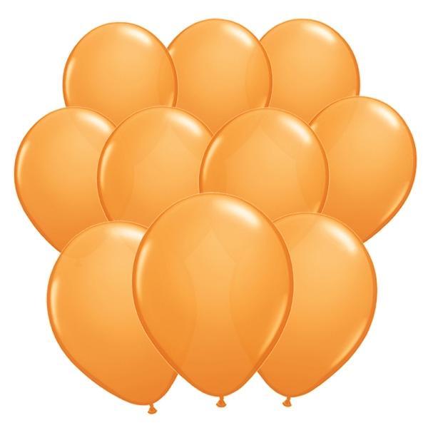 100 orangefarbene Luftballons aus Latex für Deko und Ballonspiele