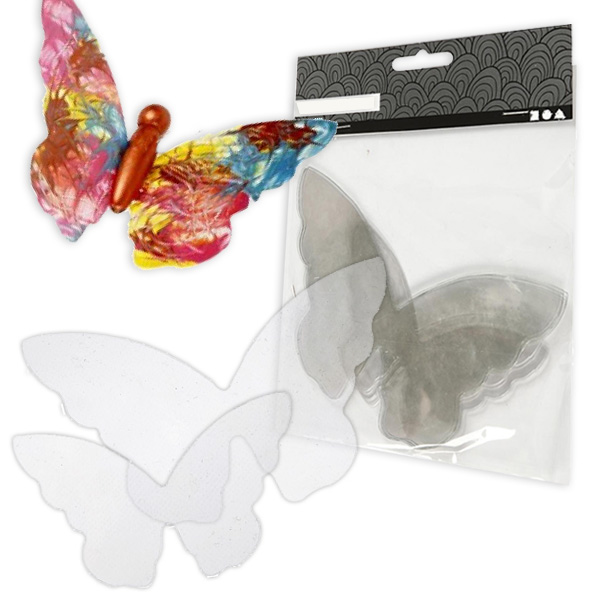 Schmetterlingsflügel zum Basteln toller Butterflies, 20 Stück, Hartfolie