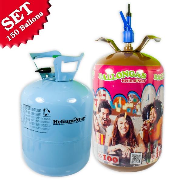 Helium Ballongasflaschen für bis zu 150 Ballons, Einweg