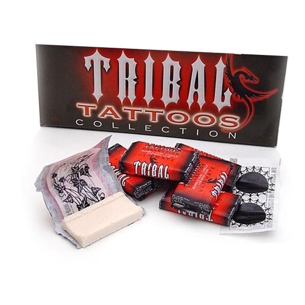 TRIBAL Bubble Gum inkl. Tattoo im Kaugummi-Papier, 1 Stück