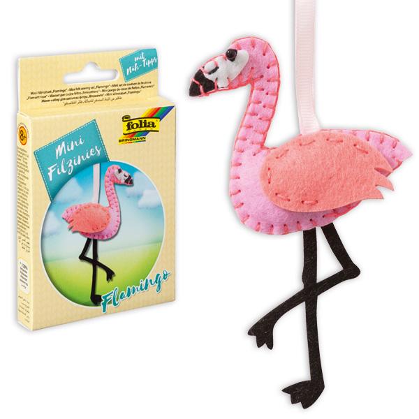 Mini Filztier - Flamingo