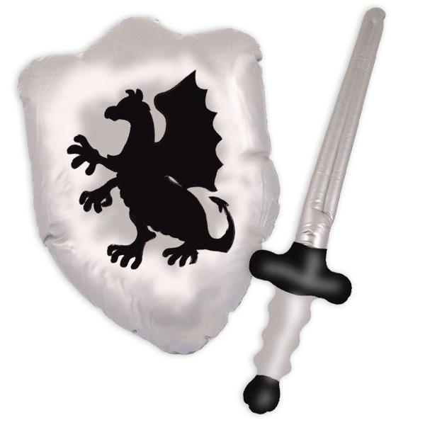Schwert & Schild - aufblasbare Partydeko