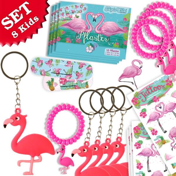 Mitgebselset Flamingo für 8 Kids, 32 tlg