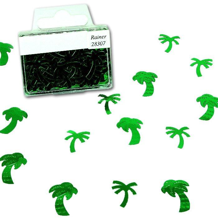 Hübsche Palmen als Konfetti in der Box für Südsee-Partys, 1 Btl., 20g