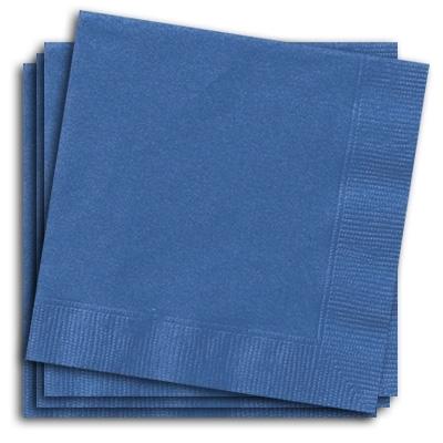 Blaue Partyservietten, Papierservietten im Blauton, 20er Pack, 33x33cm