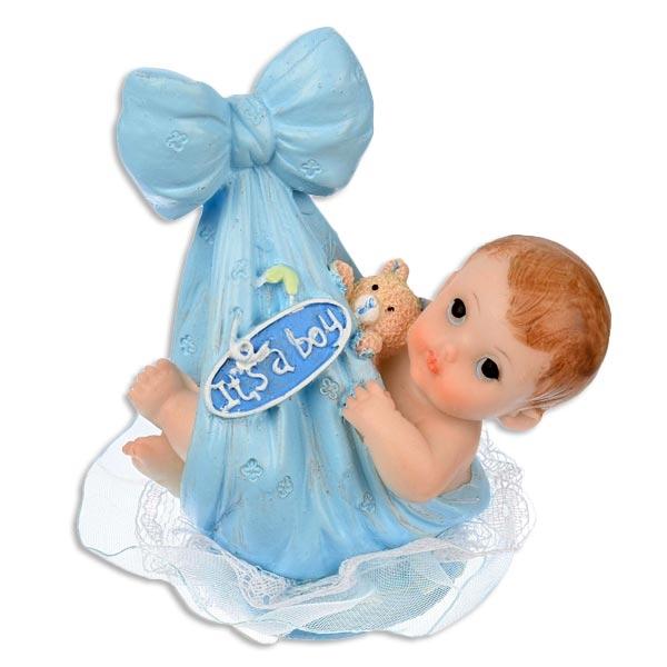 Nonfood-Tortenfigur It's a boy zur Geburt eines Jungen, 4,5×9,5cm