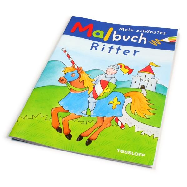 Ritter Malbuch für Kindergarten-Kind, Ausmalbilder Pferde, Ritterburg