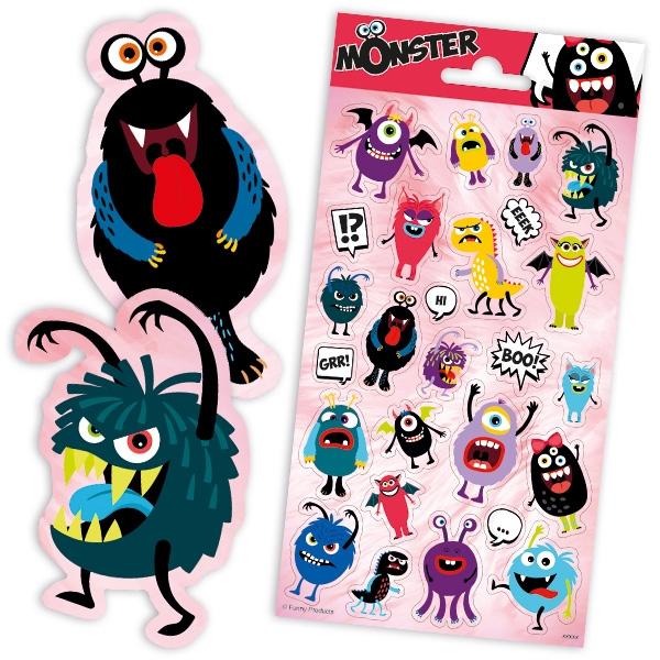 Monster Mitgebselset für 8 Kids, 40 tlg