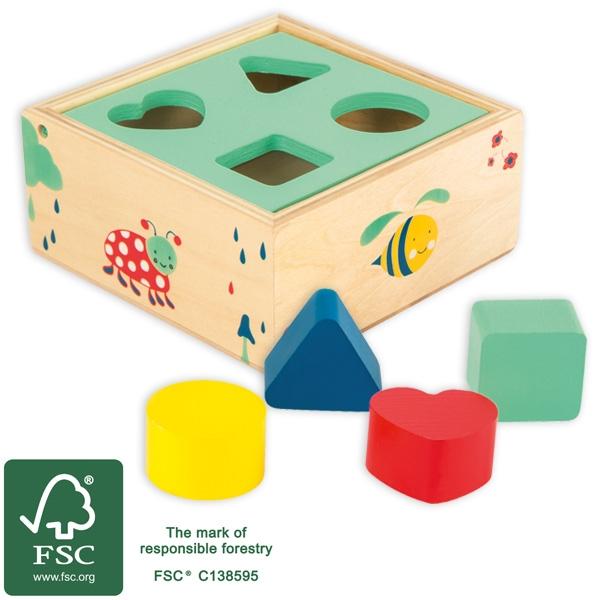 Steckspiel aus Holz, Holzspielzeug für Kleinkinder ab 1 Jahr, 1 Stück