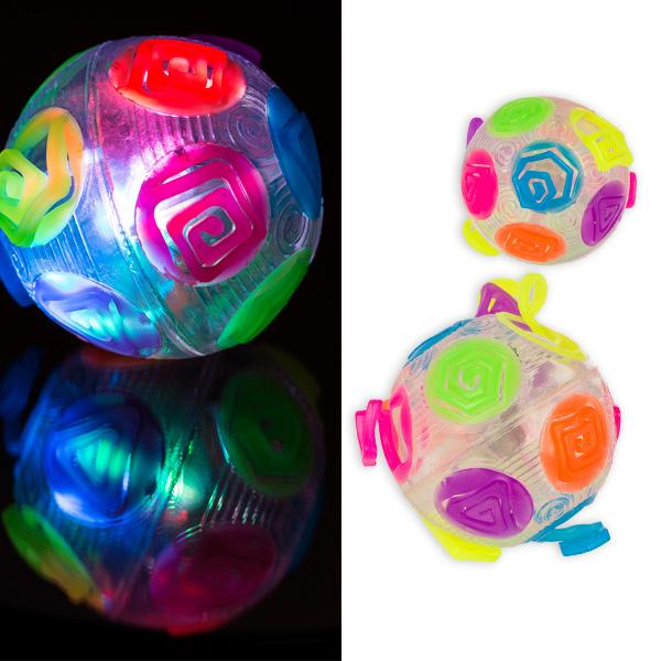 "Springball ""Crazy Flashing"" mit blinkender LED, 1 Stück"