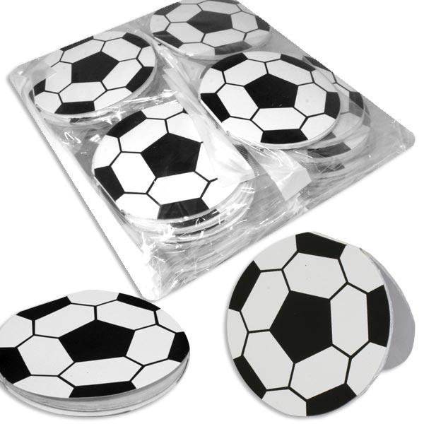 Großpack Fußball-Notizblöcke 8cm, 48 Stück, Mitgebsel für Fußballparty