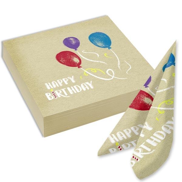 """""""My Happy Birthday"""" 20 Papierservietten, 33cm"""