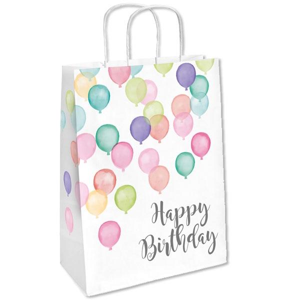 Ballon Party Papiertüten, 2er Pck, 13cm x 21cm x 8cm, pastellfarben