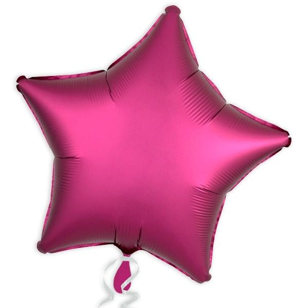 Folienballon Stern, Satin Luxe Pink, 45 cm