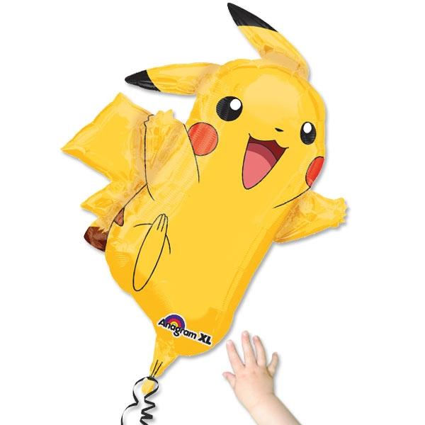 Pikachu Folieballon, 1 Stk, 62cm x 78cm, Pokemon