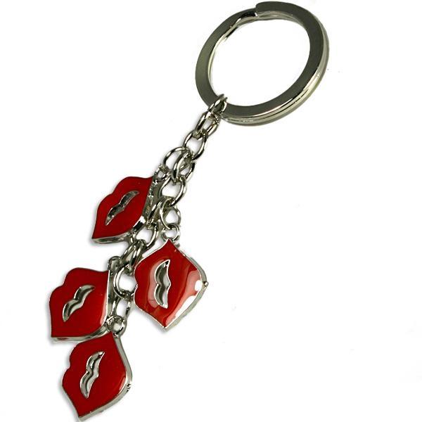 Kussmund-Schlüsselanhänger, Geschenkidee für Verliebte, 10 cm