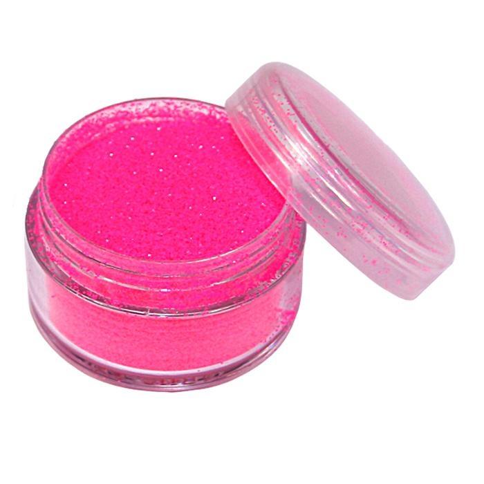Neon-Glitzerpulver in Pink, 5ml Topf für Tattoos,toller Basteleffekt