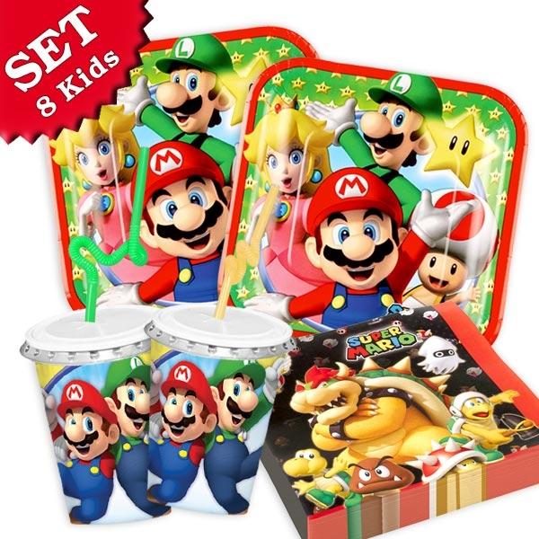 Super Mario Set, für 8 Kids, 56tlg