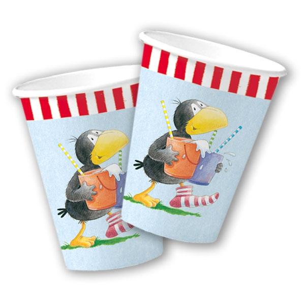 Rabe Socke Pappbecher, 8er, 200ml, Partybecher Kinderfest / Birthday