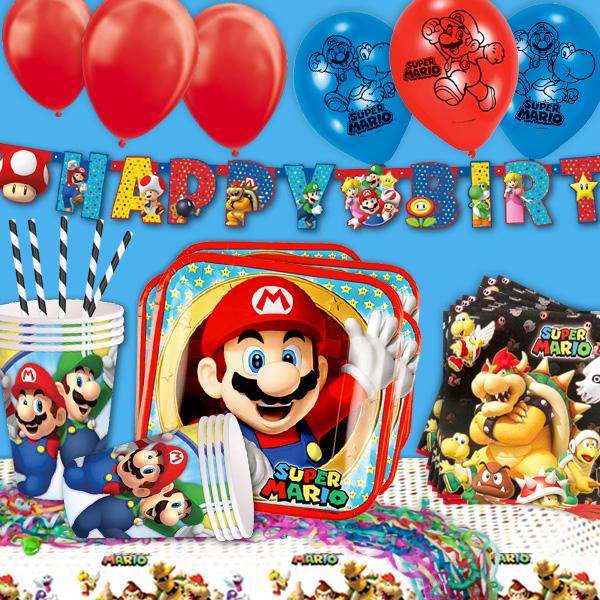 Super Mario - Mottopartyset, 65-teilig