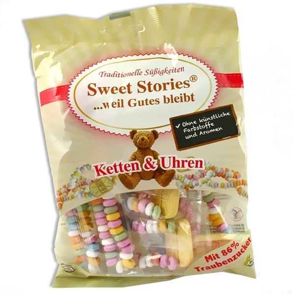 Sweet Stories Knabberkettchen- und Uhren, 102g Packung