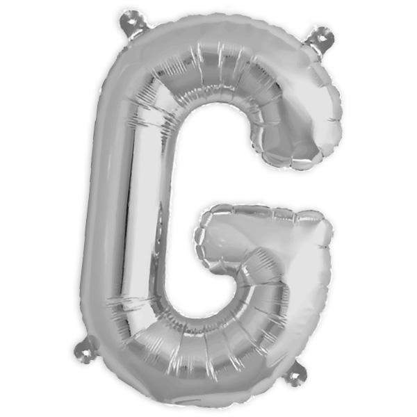 Folienballon Buchstabe G, 41 cm, für personalisierte Deko mit Namen etc.